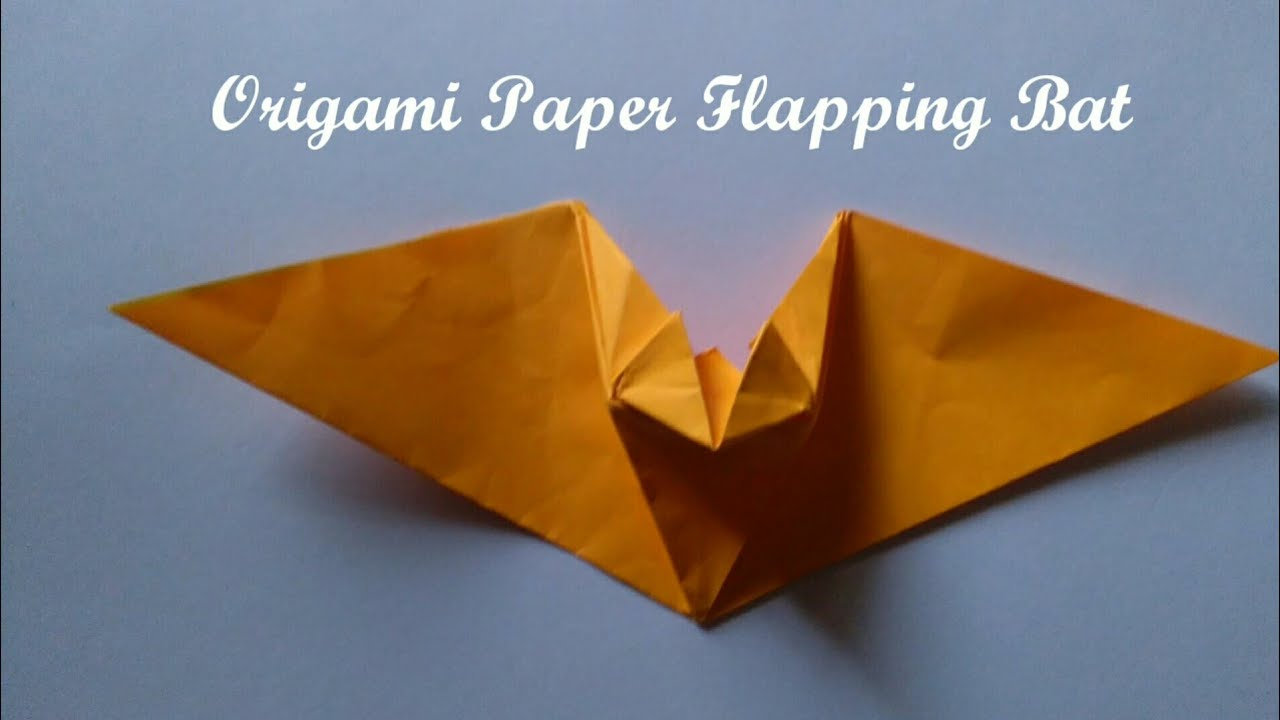 Origami Paper Flapping Bat