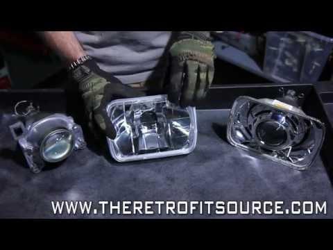 TRS Tips: 7x6 Sealed Beam Bi-xenon Headlight Projector Retrofit Upgrade How-To