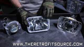 TRS Tips: 7x6 Sealed Beam Bi-xenon Headlight Projector Retrofit Upgrade How-To