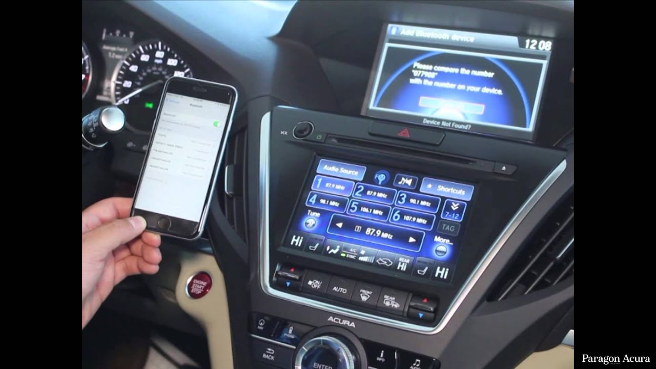 paragon acura how to pair your bluetooth device youtube