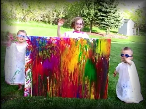 Throwing Water Balloons Of Paint At The Wall