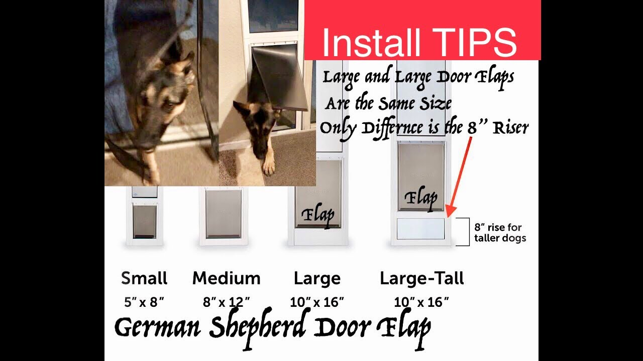 German Shepherd Pet Door Sliding Glass Petsafe Freedom Aluminum