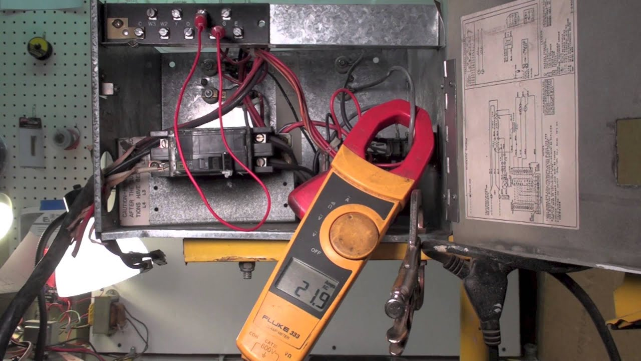 hight resolution of how the electric furnace sequences on and off