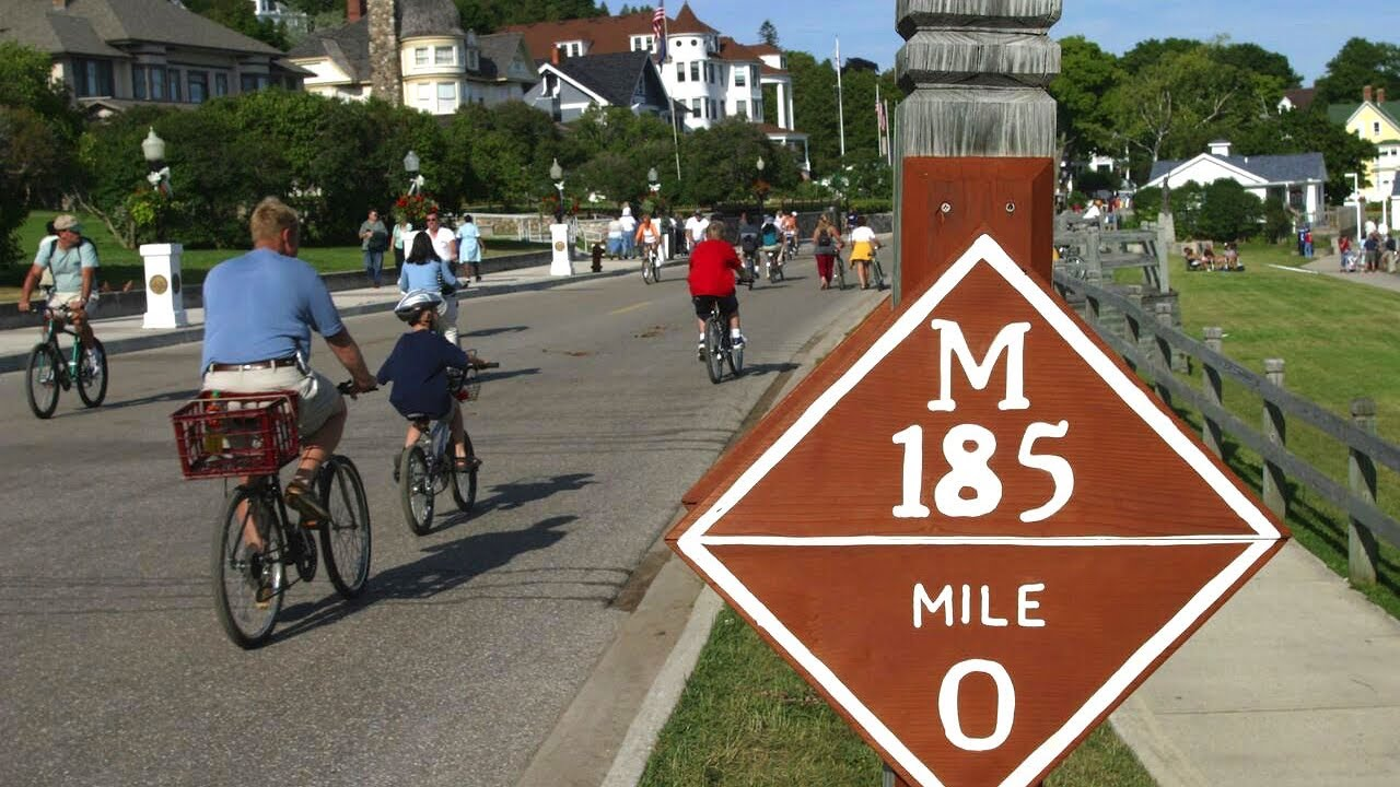 Explore Mackinac Island With Bike Rentals - YouTube |Mackinac Island Bicycle Cafe