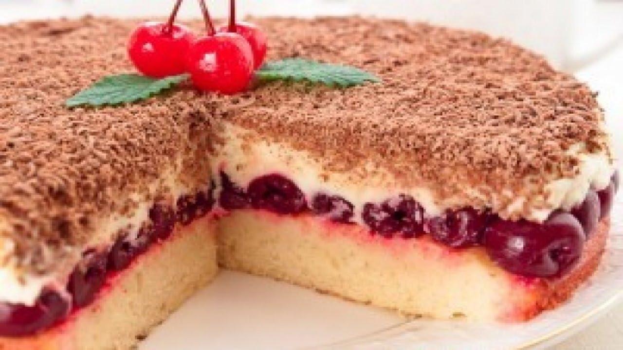 торт с свежей вишней рецепт