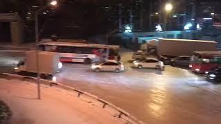 Владивосток Снегопад Аварии ДТП 17 Ноября 2017