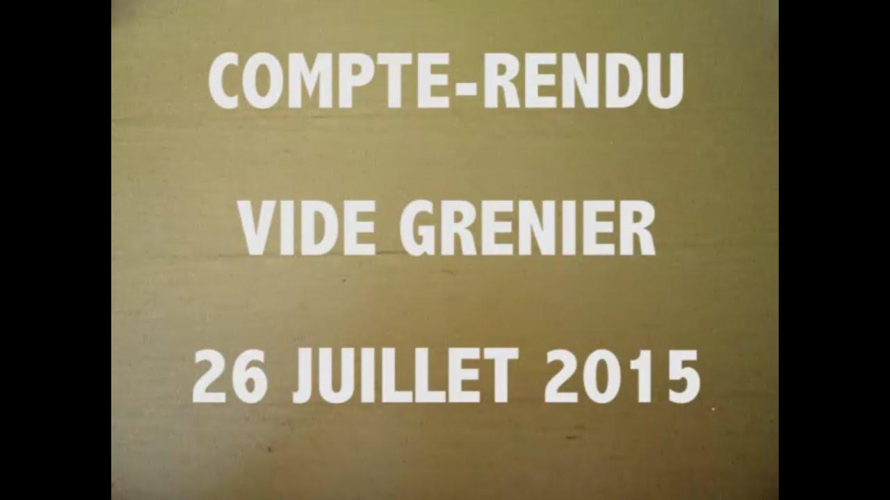 Compte rendu vide grenier 26 juillet 2015 1 youtube - Vide grenier 77 2015 ...