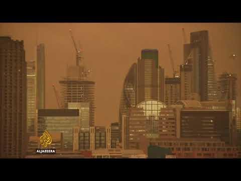 London's Yellow Sky