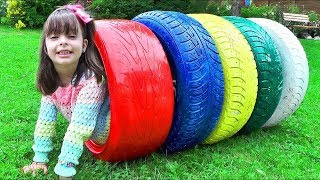 APRENDENDO CORES |  Learn Colors for Kids with Color Tire Educational video for Children Songs