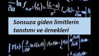 9) Sonsuza giden limitlerin tanıtımı ve örnekleri- Limit ve Süreklilik- Calculus 1