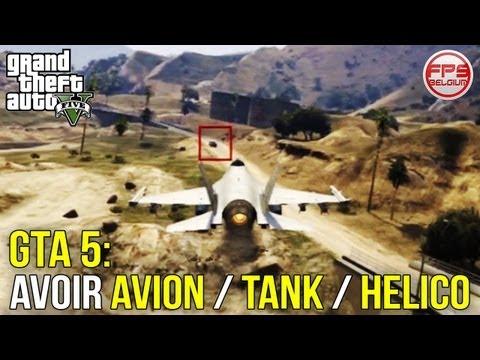 GTA 5 // Avoir Facilement un AVION DE CHASSE, un TANK ou un HELICO de l'armée | FPS Belgium