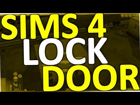 lock door sign. How To Lock Door In Sims 4 Sign