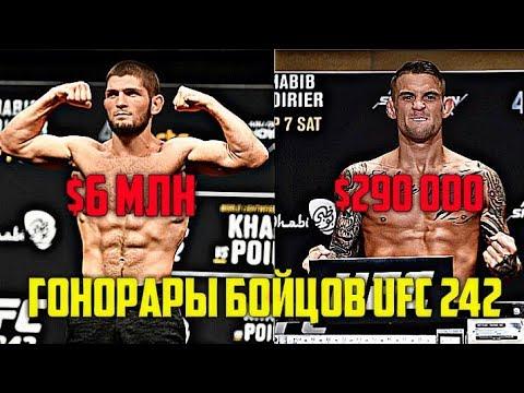 ЗАРПЛАТЫ UFC 242! ГОНОРАРЫ БОЙЦОВ УЧАСТНИКОВ UFC 242! СКОЛЬКО ПОЛУЧИЛИ ХАБИБ И ПОРЬЕ ЗА БОЙ? UFC 242