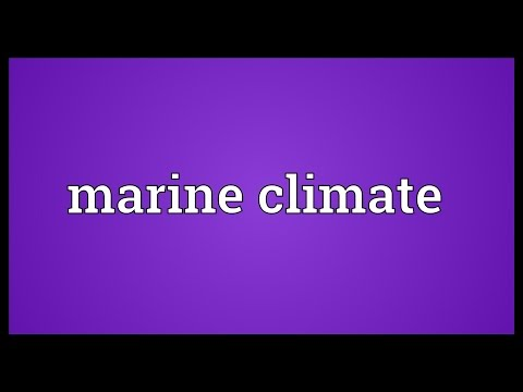 Marine climate Meaning