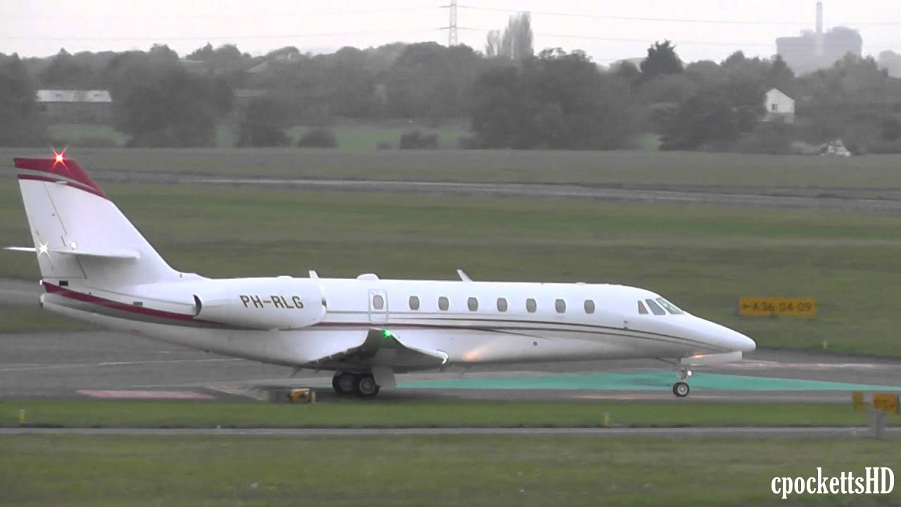 Brand New Cessna 680 Citation Sovereign - Close up landing and take ...