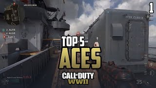 COD WWII: TOP 5 ACES OF THE WEEK #1 - Call of Duty World War 2