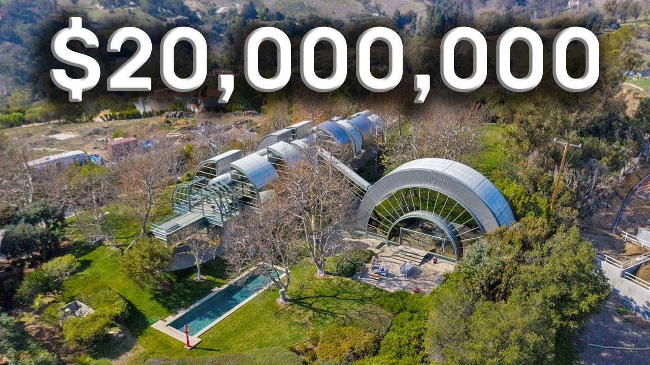 INSIDE A UNIQUE MALIBU MANSION MADE OF STEEL AND GLASS!