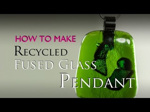How to make a fused glass Recycled Glass Pendant in a microwave kiln