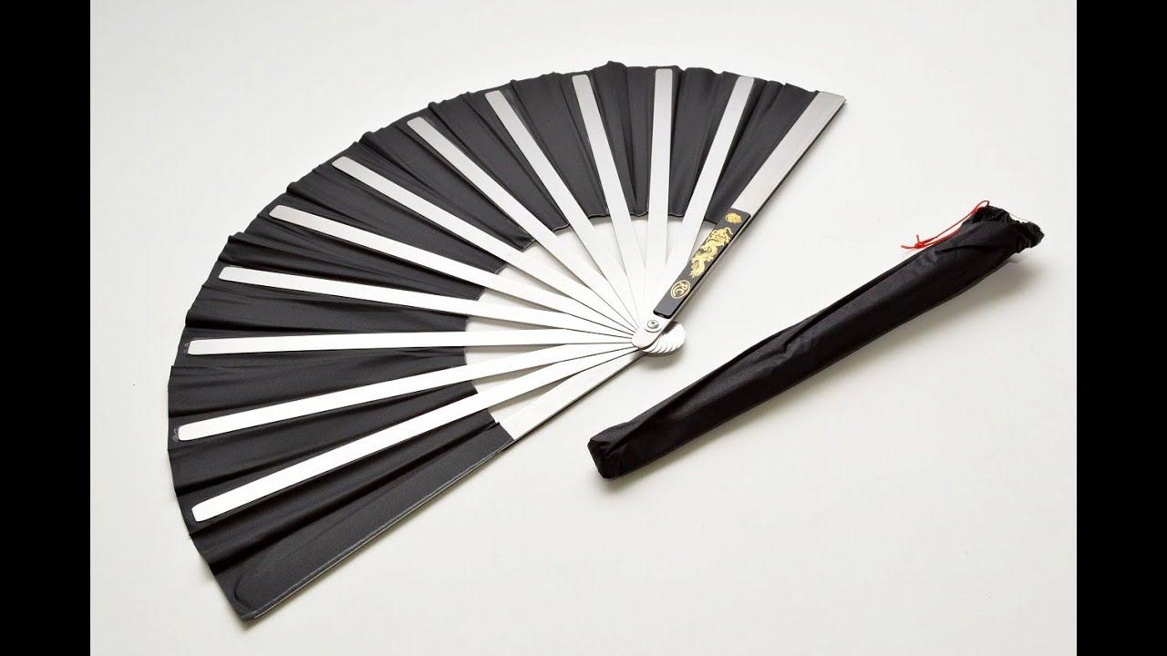 japanese samurai war fan tessen stainless steel feudal