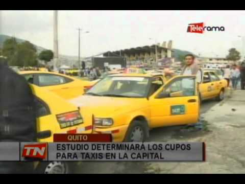 Estudio determinará los cupos para taxis en la capital