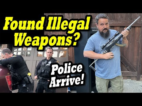 CALLED POLICE AFTER ILLEGAL WEAPONS FOUND in the locker bought at the abandoned storage auction