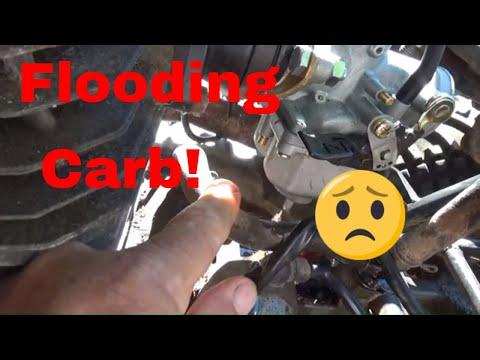 Fixing an Overflowing ATV Carburetor, Cleaning a PZ27 Carburetor!
