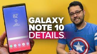 Galaxy Note 10 details leak (Alphabet City)