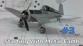 starting with metal earth f4u corsair 3