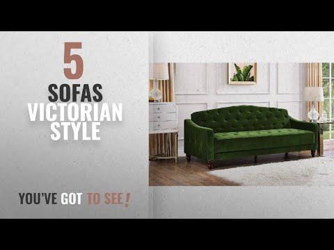 Top 10 Victorian Style Sofas [2018 ]: Luxury and Elegant Vintage Diamond Tufted Sofa Sleeper,