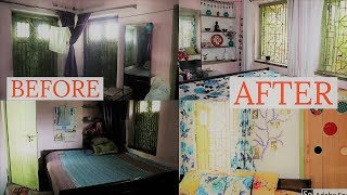 EXTREMELY SMALL BEDROOM MAKEOVER WITH RENTERS FRIENDLY DIYS|Ep-3