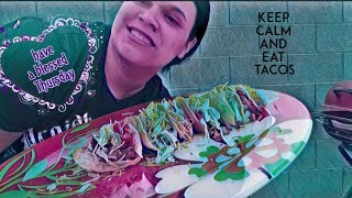 I CHALLENGED MYSELF TO EAT 6 TACOS 🌮 MUKBANG