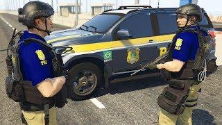 GTA 5 ROLEPLAY POLICIAL - BLITZ DA POLICIA RODOVIARIA FEDERAL PEGA GERAL !