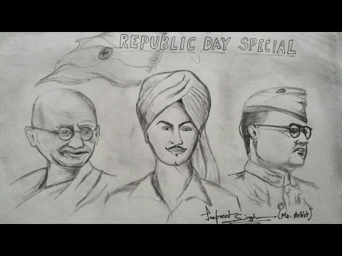 Fathers of India - Republic Day Special Drawing | Mr. Artist
