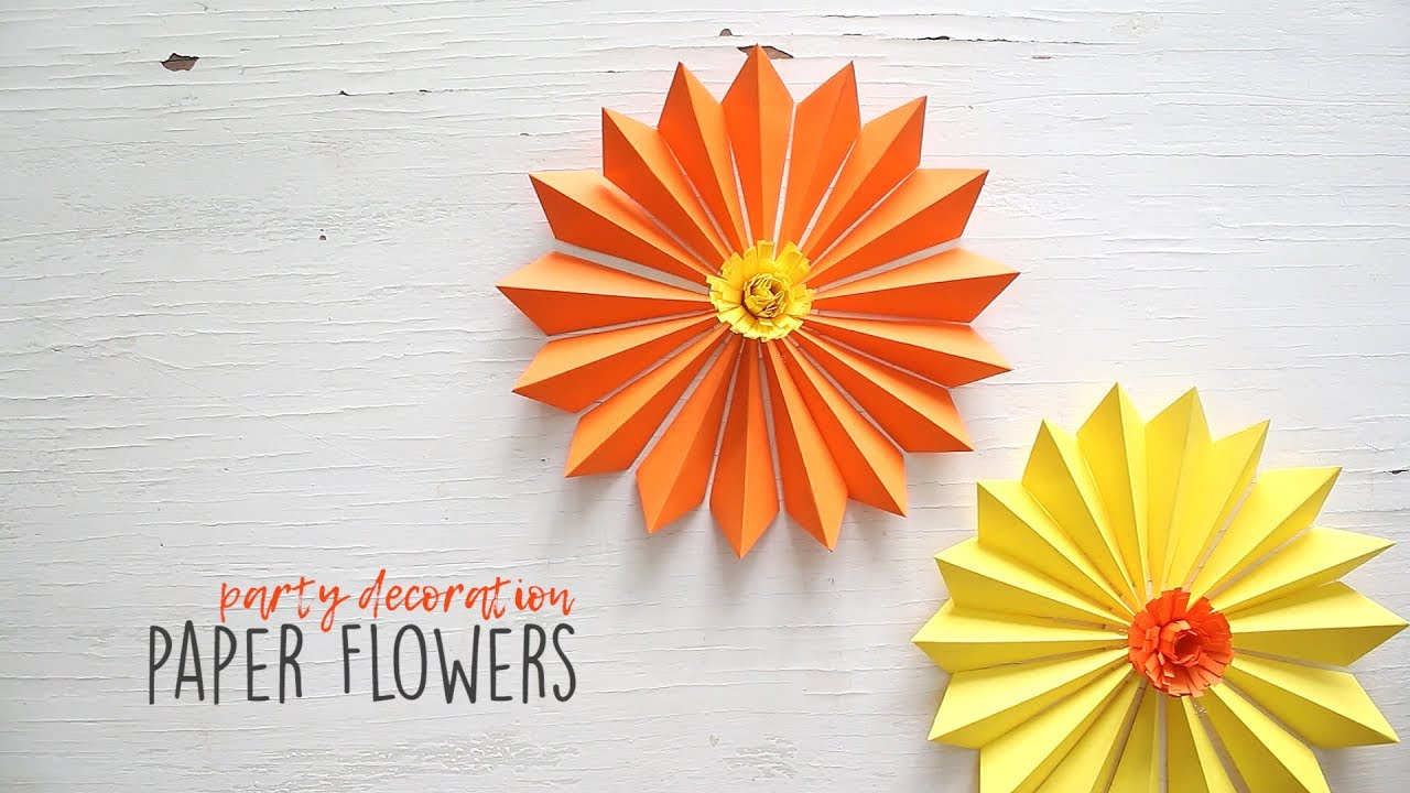 Diy party decoration paper flowers youtube diy party decoration paper flowers mightylinksfo
