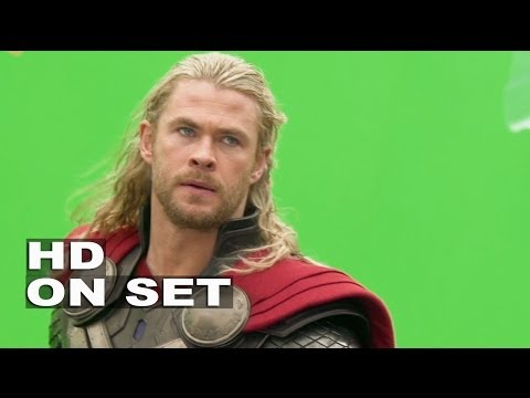 Thor 2: The Dark World: Behind the Scenes with Chris Hemsworth Thor (All His Broll)