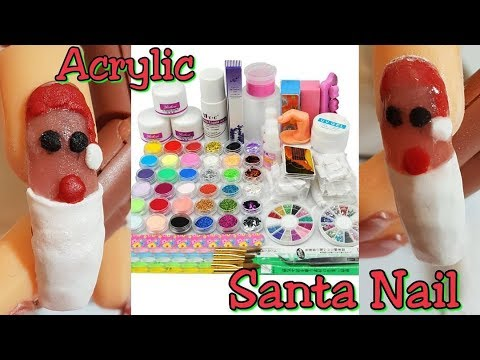 Testing Acrylic Nail Kit E Christmas Nails Idle
