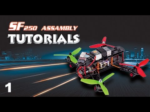 SunFounder SF250 FPV Racing Drone Quadcopter Assembly Tutorial 01 - Unbox