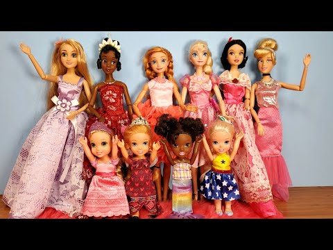 Fashion Show ! Elsa and Anna toddlers - Barbie - fashionista - dresses - shoes