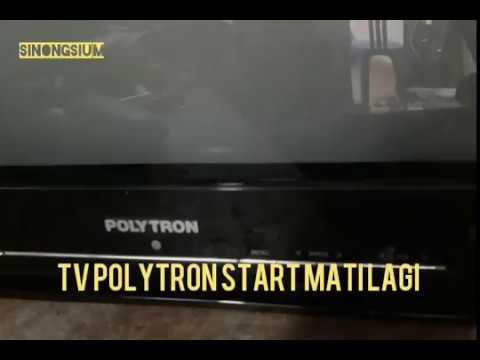 cara service tv polytron u slim di start mati lagi