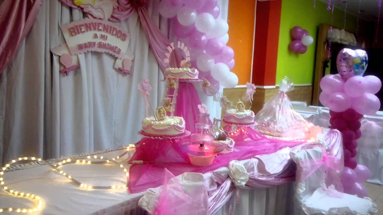 Decoraci n baby shower ni a youtube for Decoracion para pared de baby shower