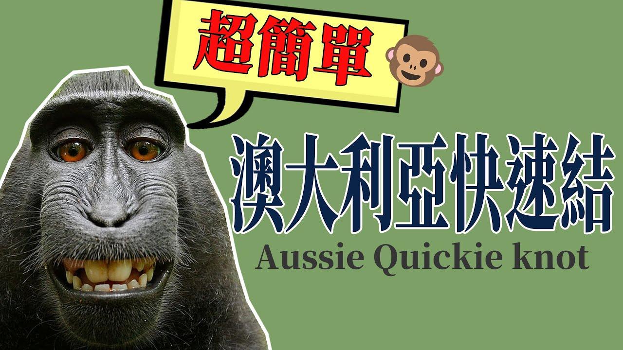 澳大利亞快速結(Aussie Quickie knot)//20秒搞定猴子都學的會[阿宏釣魚日記]