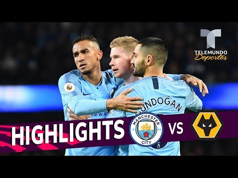 Manchester City vs. Wolverhampton: 3-0 Goals & Highlights | Premier League | Telemundo Deportes