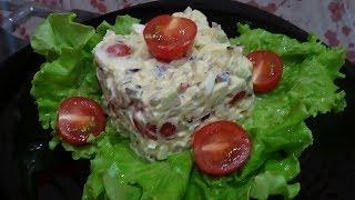 Нежный салат с авокадо и яйцом
