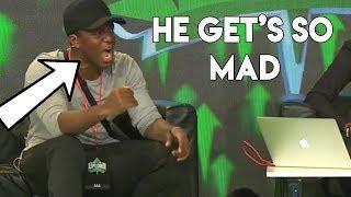 KSI Roasts Me At Upload Event Panel (KSI And Joe Weller Fight On Stage)