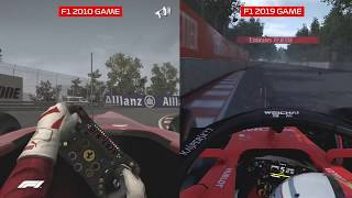 Official Formula 1 Game: F1 2010 vs F1 2019