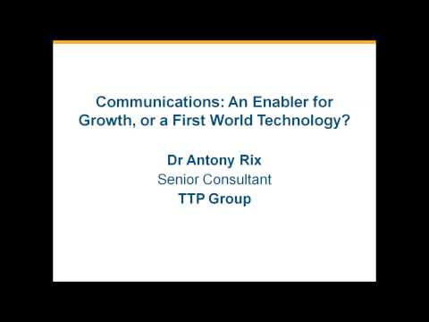 Communications: An Enabler For Growth, Or A First World Technology?