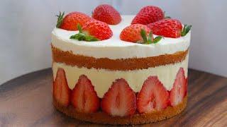 딸기 프레지에 만들기, 딸기케이크 만들기, 중력분베이킹…