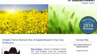 Andjelic Farms Named One of Saskatchewan's Top Crop Producers