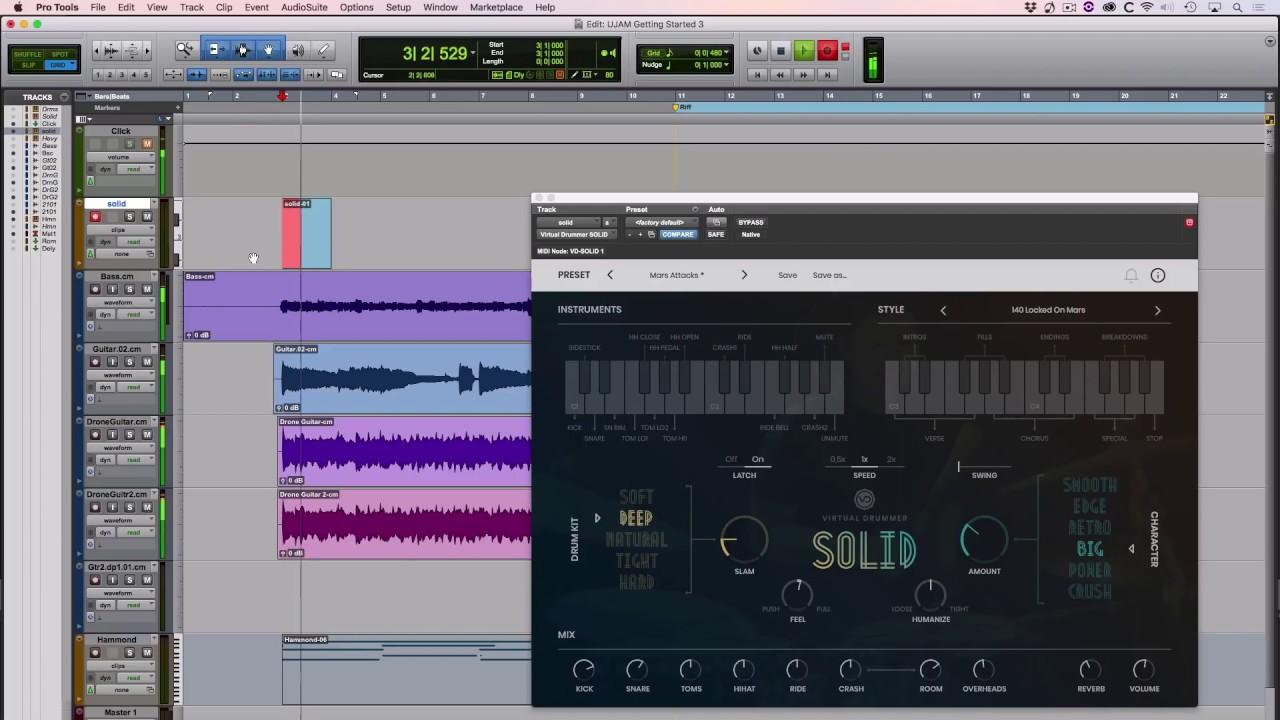 UJAM Instruments Tutorials - Virtual Drummers in Pro Tools