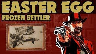 Red Dead Redemption 2 : Secret Frozen Settler With Rare Hat Easter Egg